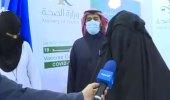 بالفيديو.. مشاعر أول مواطنة تلقت جرعة كورونا في مركز اللقاح بالجوف