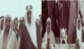 فيديو نادر للملك سعود في حفل تصدير أول شحنة من نفط حقل الخفجى