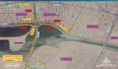 فتح مسار مؤقت في طريق الرياض