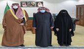 شاهد.. أمير الحدود الشمالية يستقبل الطالبة الحاصلة على جائزة حمدان بن راشد