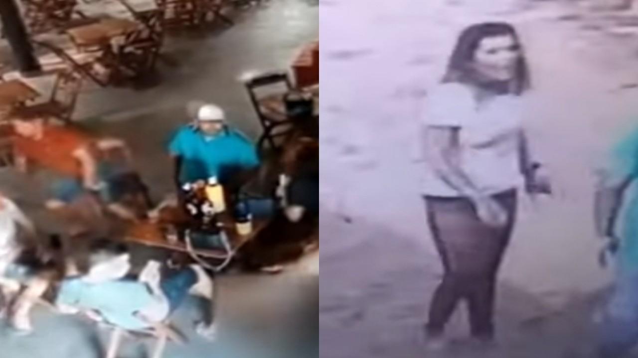 بالفيديو.. لحظة قتل امرأة لفتاة ضبطتها تجلس مع زوجها في مقهى