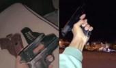 بالفيديو.. شخص يتباهى بحيازة أسلحة نارية وبإطلاق النار داخل حي سكني بالرياض