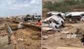 بالفيديو.. الأمطار والسيول تُحطم مركبات ومنازل في تبوك