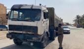 ضبط قائد شاحنة عكس اتجاه السير في الدوادمي