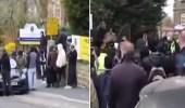 احتجاجات ضد مُعلم عرض رسوما مسيئة للنبي