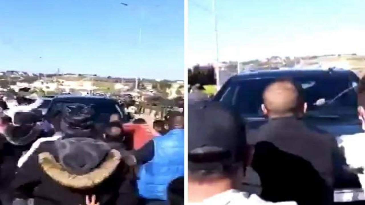 شاهد.. لحظة اعتداء أردنيين على سيارة مسؤول كبير أثناء دخوله مستشفى حكومي بعد وفاة مرضى كورونا
