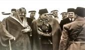 صورة نادرة للملك عبد العزيز مع الملك فاروق في القاهرة
