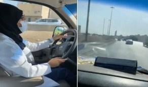 """شاهد.. لحظة نقل سائقة الإسعاف """" إيمان عبدالعظيم """" لأول حالة ولادة"""