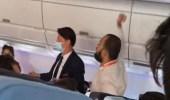 بالفيديو.. هبوط طائرة اضطراريا بسبب سلوك أحد الركاب
