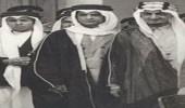 صورة نادرة تجمع ثلاثة من ملوك المملكة