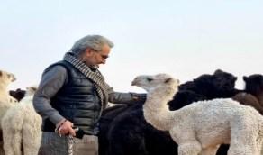 شاهد..الأمير الوليد بن طلال في البر
