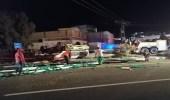 وفاة شخص في حادث انقلاب شاحنة بالباحة