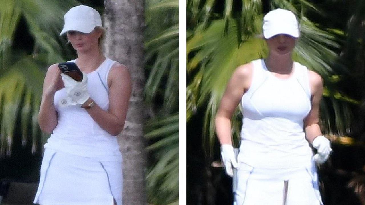بالصور.. ترامب وابنته إيفانكا يمارسان لعبة الجولف بميامي