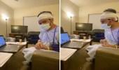 شاهد.. قصة مواطن حصل على الدكتوراة من سرير المرض رغم إصابته بالسرطان