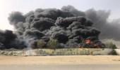 اندلاع حريق في مخلفات ونفايات تحوي إطارات بأحد الأحياء بالدمام