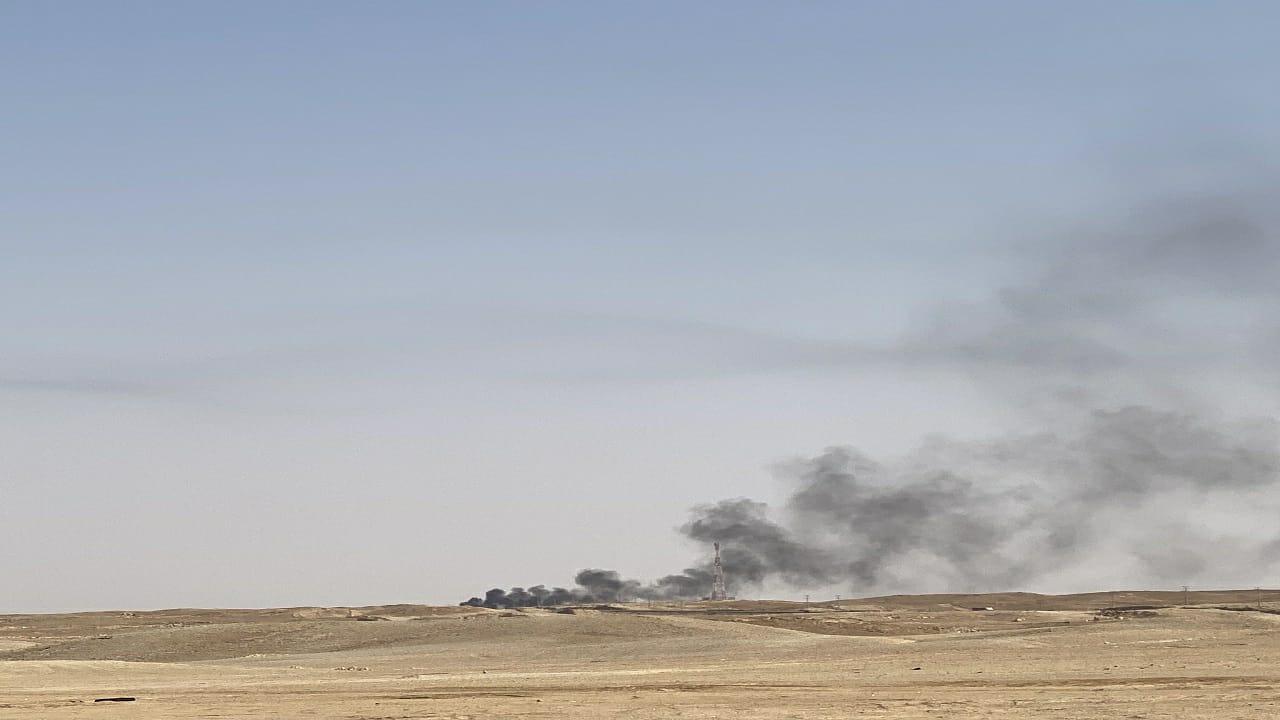 """اندلاع حريق على طريق """"القصيم - الرياض"""""""