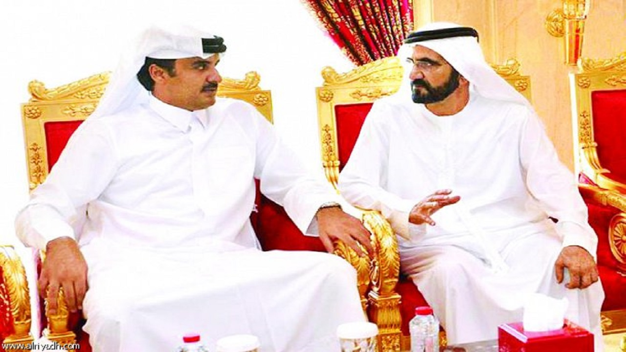 اتصال هاتفي بين أمير قطر وحاكم دبي لأول مرة منذ سنوات