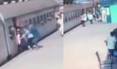 بالفيديو.. لحظة إنقاذ فتاة من السقوط أسفل عجلات القطار