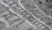 شاهد.. لحظة استهداف التحالف لورش تركيب صواريخ باليستية حوثية في صنعاء