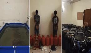 بالفيديو.. الإطاحة بوافدين يديران مصنع للخمور بالمدينة المنورة