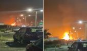 بالفيديو.. انفجار شاحنة محملة بـ 400 أسطوانة غاز في مصر