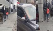 بالفيديو.. فتاتان تحاولان سرقة سيارة من سائق بصاعق كهربائي