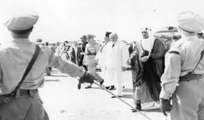 صورة نادرة للملك سعود أثناء زيارته إلى لبنان