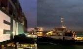 بالفيديو..جانب من محاولة تعويم السفينة الجانحة في قناة السويس