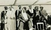 صورة نادرة للملك سعود أثناء الاحتفال بالذكرى الأولى لتوليه الحكم
