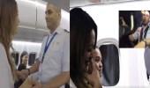 شاهد..طيار يفاجئ حبيبته بوجوده على متن رحلتها ويعرض عليها الزواج
