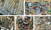 ضبط 400 بدلة عسكرية و8000 قطعة من الأنواط والرتب والشعارات المخالفة