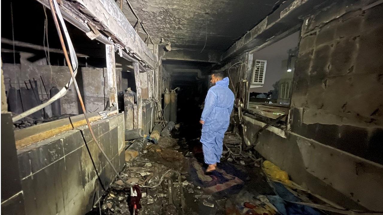 ارتفاع حصيلة ضحايا حريق مستشفى ابن الخطيب ببغداد إلى 81 قتيل