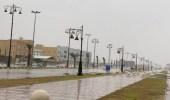 أمطار غزيرة على محافظة خباش ومركز الوديعة بنجران