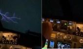 بالفيديو.. طيار مدني يفسر ظاهرة عجيبة كالبرق خارج قمرة قيادة طائرة