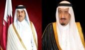 خادم الحرمين الشريفين يتلقى اتصالا هاتفيا من أمير قطر