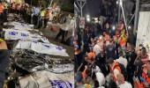 شاهد.. 38 قتيلا وعشرات الجرحى في حادثة انهيار خلال احتفال ديني بإسرائيل