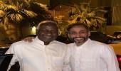 صورة.. ماجد عبد الله في ضيافة سامي الجابر