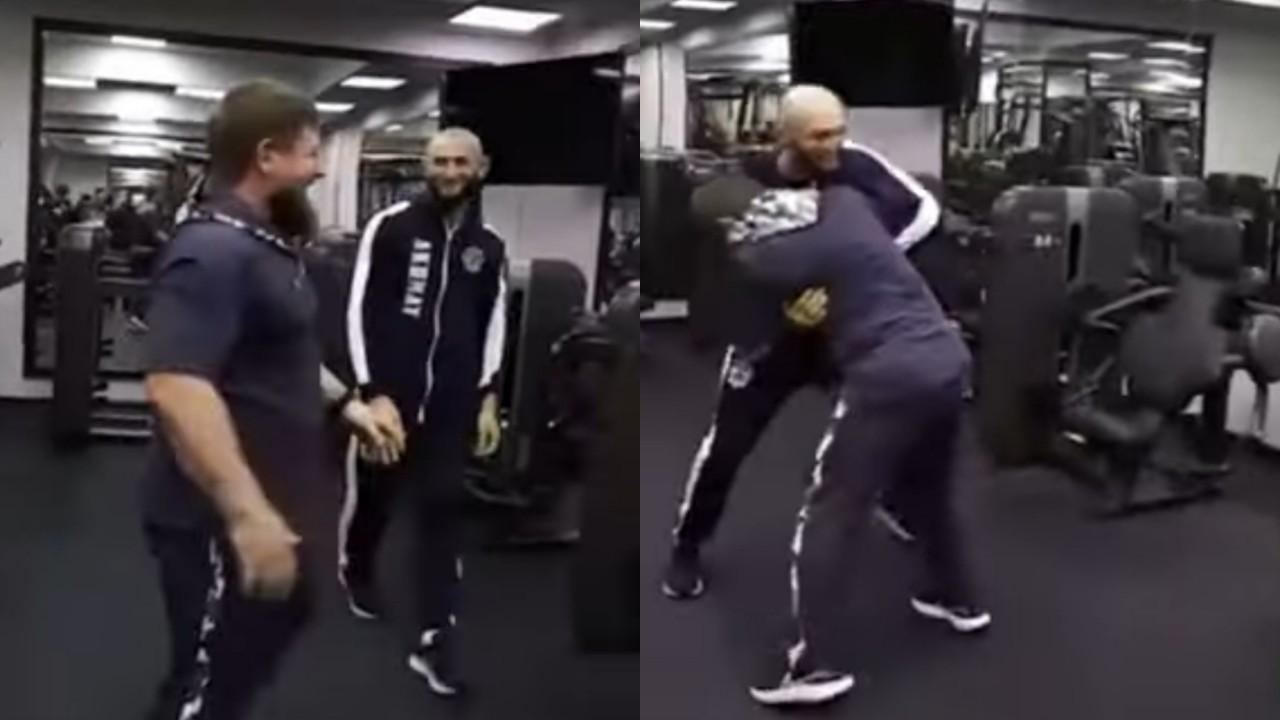 بالفيديو.. لحظة مصارعة رئيس الشيشان لبطل في الفنون القتالية