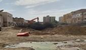 """استئناف أعمال إزالة العقارات المنزوعة في """"غليل """" و""""بترومين """""""