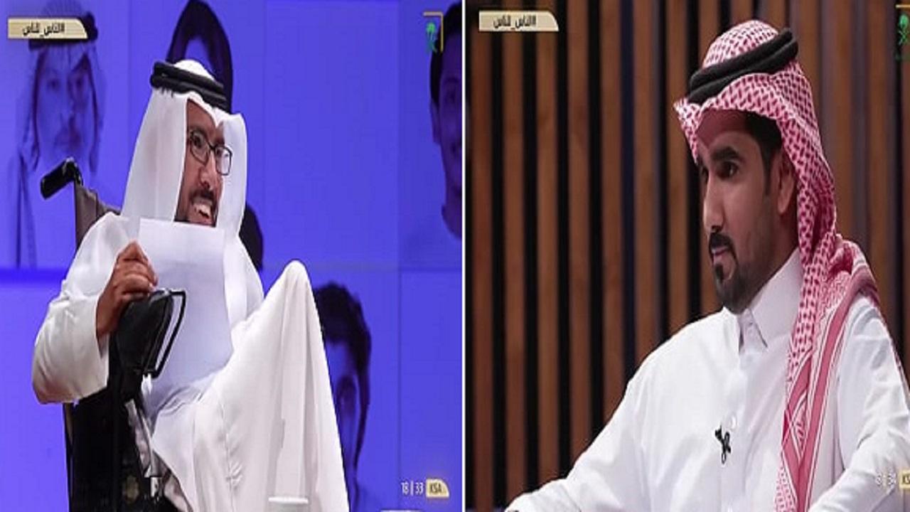 بالفيديو.. مواطن يبكي متأثراً بكلمة صديقه المعاق بعد شكره لصنيعه معه