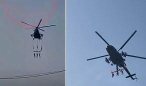 حقيقة الفيديو المتداول عن مروحية عسكرية ربطت جثث ودارت بهم فوق خميس مشيط