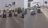 بالفيديو.. قائد مركبة يراوغ السيارات بسرعة جنونية