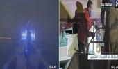"""بالفيديو.. """"حرس الحدود"""" ينقذ 6 مواطنين من الغرق في بحر جدة"""