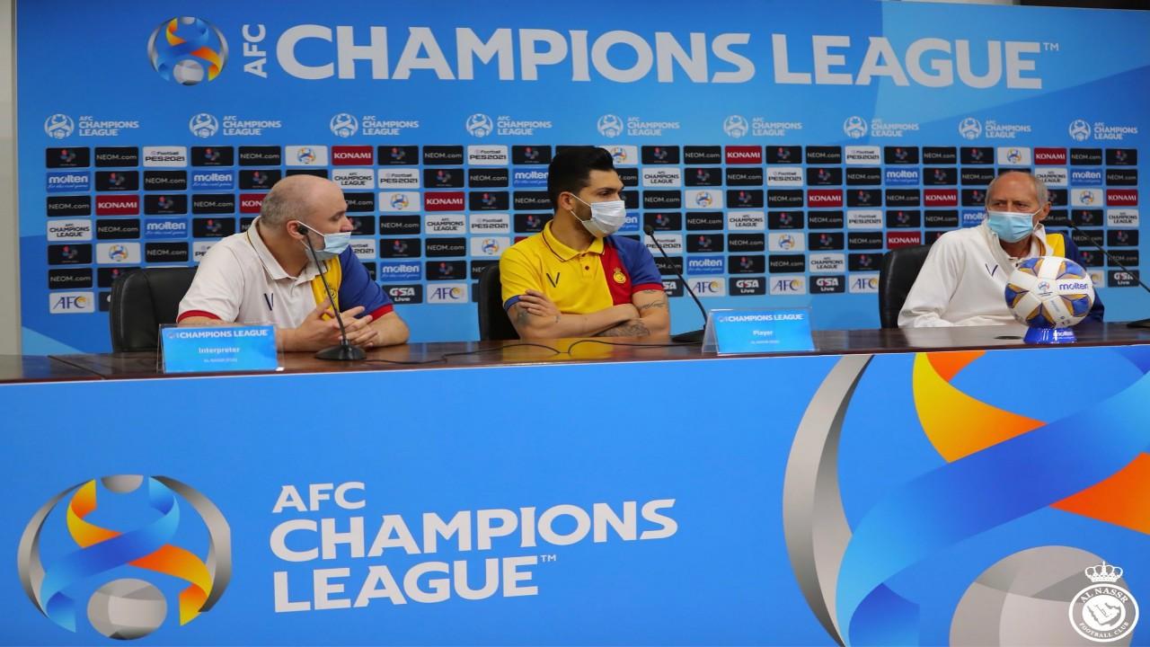 مدرب النصر: هدفنا الفوز في أول مباراة آسيوية للفريق.. وبيتروس يوجه رسالة للجماهير