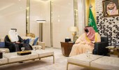 سمو الأمير عبدالعزيز بن سعود يستقبل السفير الإماراتي وسفيرة بلجيكا لدى المملكة