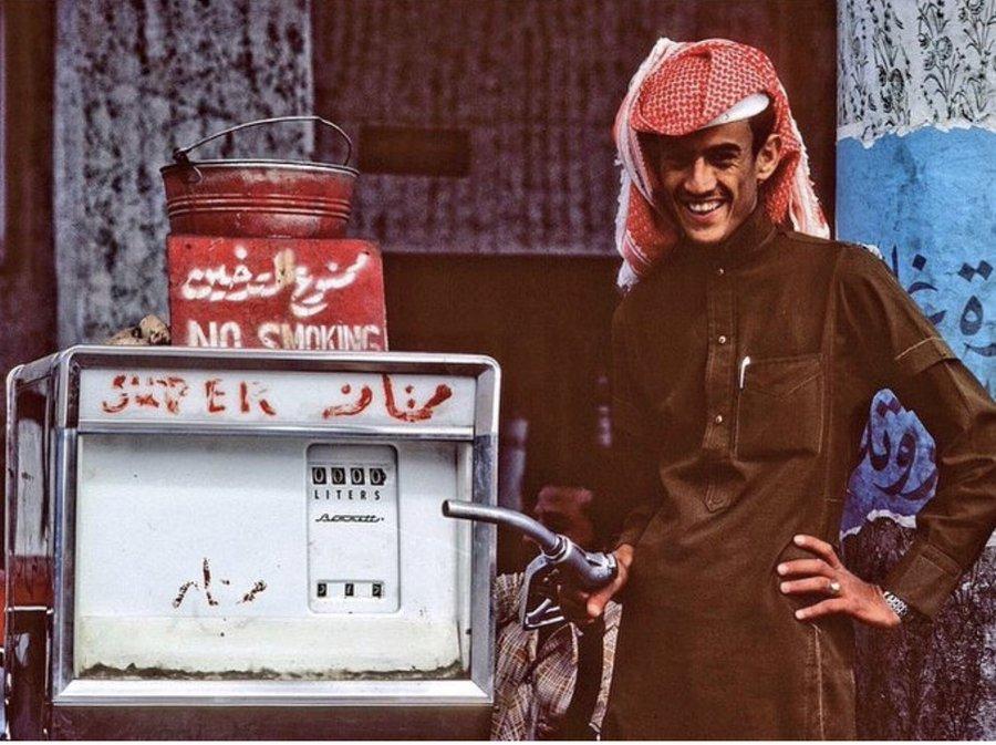محطة بنزين في جدة قديما