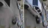 بالفيديو.. قائد مركبة يصطدم بسيارة متعمداً ويحطمها في إحدى مناطق المملكة