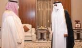 بالصور.. أمير قطر يستقبل الأمير تركي بن محمد بن فهد