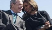 """زوجة أوباما عن علاقتها ببوش الابن:""""أنا أحبه حتى الموت"""""""