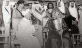 صورة تاريخية للملك عبدالعزيز مع الملك عبدالله قبل 72عاما